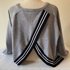 Rachel Roy Yasmin Cross Back Sweatshirt Size XL